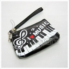 Music Piano Keyboard I Love Music Wrist Purse
