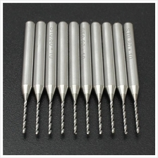 10pcs 0.8mm PCB End Mill Engraving Bits 3.175mm Shank Cemented Carbide