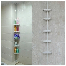 5 Tiers Extendable Bathroom Corner Storage Rack