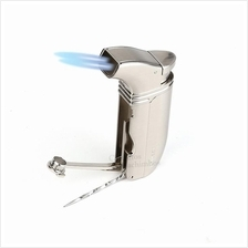 Honest BCZ422 Jet Flame Torch Cigar Butane Gas Lighter - Double frame
