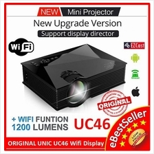 Original UNIC UC46 LED HD Projector WIFI Display Miracast EZcast UC40
