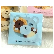 Blue Bear Biscuit / Cookies / Cake Plastic Bags (Self-adhesive) 100pcs