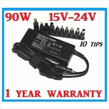 New Universal 90W 15V - 24V Notebook Laptop AC Adapter Charger 10 Tips
