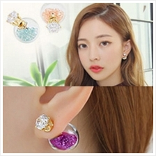 YOUNIQ-Basic Korean Wishing Crystal Ball Earring- 5 color option