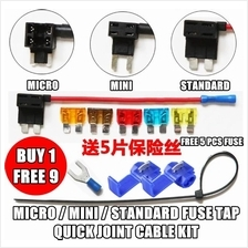 Car Lorry Micro / Mini / Standard Fuse Tap Quick Joint Cable Kit