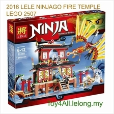 2016 NINJAGO FIRE TEMPLE LEGO 2507 COMPATIBLE BRICK (FREE SHIPPING)