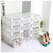 HH097 Stackable Shoes Storage box Flexible Foldable Drawer Shoes Box