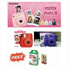 Fuji Fujifilm Instax Mini 8 Film Camera ~Free1 pack film