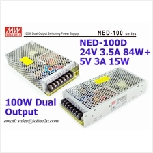 Meanwell Mean well PSU NED-100C AC/DC 24V 3.5A+5v 3A Dual Output switching-pow