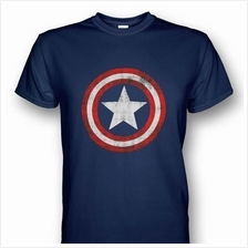 Captain America Distressed Shield T-shirt SDG15