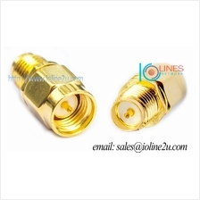 Low Loss 24k RP-SMA Female to SMA Male adapter Converter Gender Changer