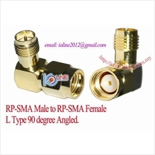 RP-SMA Male to RP SMA Female Joint adapter angled 90 degree L type