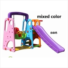 Kids Mini Playground Swing Slippery Slides Set