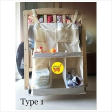 Baby Crib Hanging  Diapers/Clothes/Bottles Storage Organizer