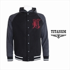 TITANUM Hooded Varsity Jacket with Lining TIM7007
