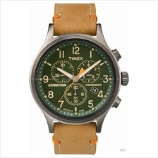 TIMEX TW4B04400 (M) Expedition Scout Chronograph leather green tan