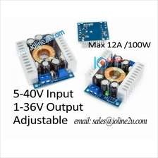 5-40V/12V/24V/36V input 1-36V output 12A DC-DC step down buck adjustable conve