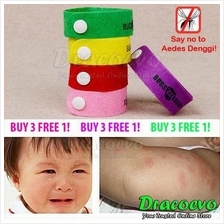 BUGSCLOSED Mosquito Zika Repellent Wrist Band Bracelet Baby Adult