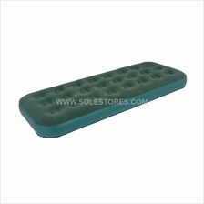 Single Flocked Coil Beam Air Bed with Built-In Foot Pump