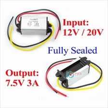 12V /10.5V-22V DC to 7.5V 3A power converter step down power Solar Car IP68