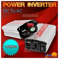 Battery Car Power Inverter 1000 Watt DC 12V to AC 220V +USB 5V