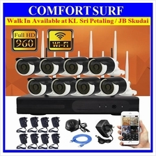 960P 1.3MP HD 4CH / 8CH Wireless IP CCTV CAMERA SYSTEM NVR Recorder