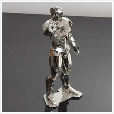 Metal Art 3D Iron Man Nano Metal Robot Super Hero Toys