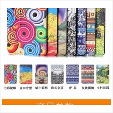 Amazon Kindle NEW Fire 7 2015 pattern leather flip case cover +SP+gift