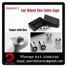 Premium Car Logo Wheel Tire Air Valve Caps Stem Cover
