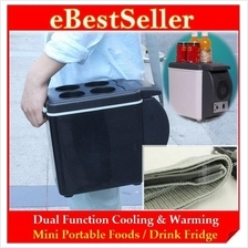 2-in-1 Cooling & Warming Mini Portable 6L/7.5L Car Fridge Refrigerator