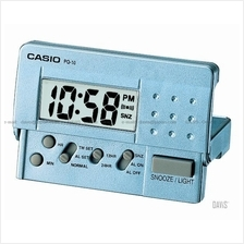 CASIO PQ-10D-2 digital traveller alarm clock snooze blue