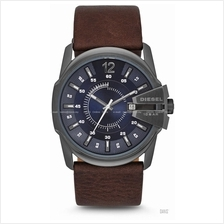 DIESEL DZ1618 Men Master Chief Date Cut-Out Detail Leather Blue Brown