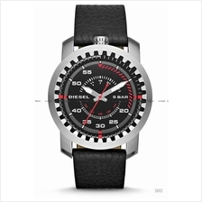 DIESEL DZ1750 Men's Rig Instrument-Inspired Leather Strap Black