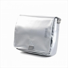 Bree Punch 49 Messenger Bag - Silver