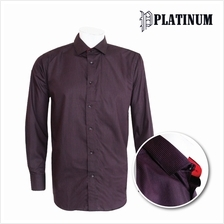 PLATINUM Stripe Microfiber Long Sleeves Shirt PM9127