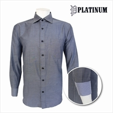 PLATINUM Basic Microfiber L/S Plus Size Shirt PM9129