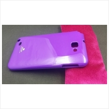 Mercury Color Jelly Samsung Galaxy Note Soft Back Case Cover Casing (Purple)