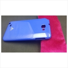 Mercury Color Jelly Samsung Galaxy Note Soft Back Case Cover Casing (Blue)