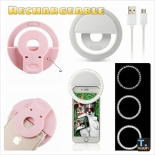 Rechargeable LED Selfie Ring Light Built-in Li-ion Battery for Mobile