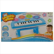 3D Electronic Organ Music Keyboard Piano *WITH STAND* with Flash Light