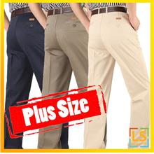 Plus Size for Men Straight Cut Long Trouser Pants Size 30 to 52