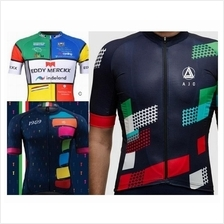 Cycling Jersey Bike short sleeve baju basikal colorful