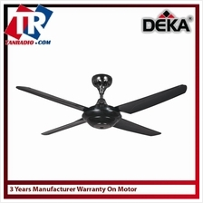 Kronos 56 Ceiling Fan With Remote Control (Black)
