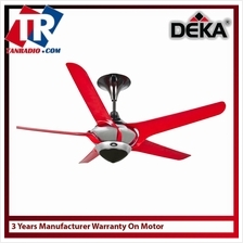 "DEKA 56"" Ceiling Fan FERA5-RED 3-Years Warranty On Motor"