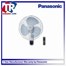 "Panasonic Wall Fan 16"" With Remote Control 3 speed on/off control  & 1 3 6 Tim"
