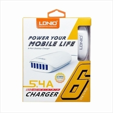 Original LDNIO 5.4A 6 Port High Speed USB Travel Adapter Charger A6573