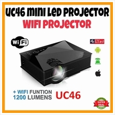 WIFI ORIGINAL UNIC UC46 MINI LED PROJECTOR 1200 LUMENS FREE HDMI CABL