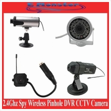 2.4G 2.4Ghz Spy Wireless Pinhole USB/AV/LCD DVR CCTV Camera