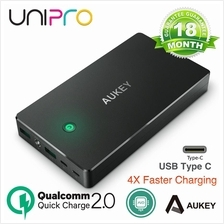 Aukey Qualcomm QUick Charge 2.0 20000 Mah Powerbank USB Type C support