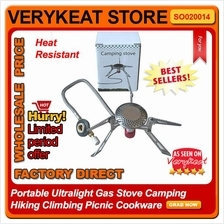 Portable Ultralight Gas Stove Camping Hiking Climbing Picnic Cookware